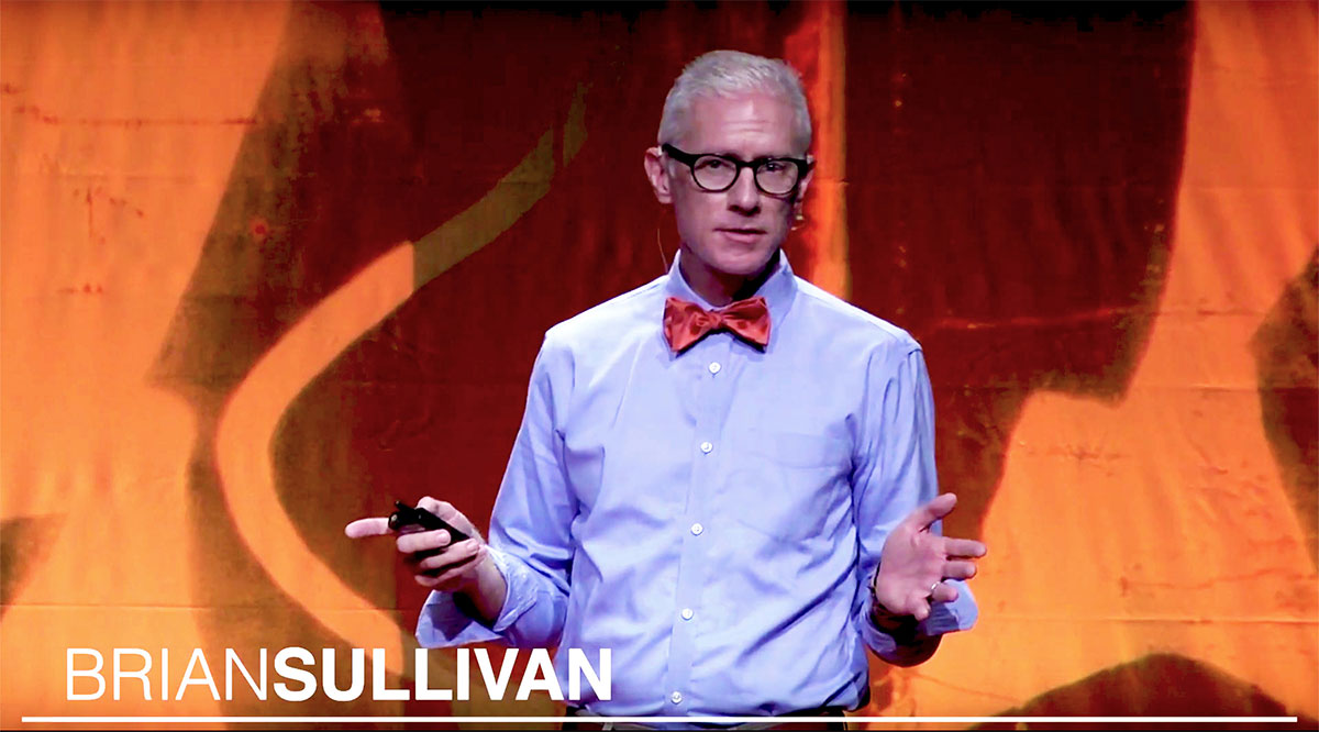 Dr. Brian Sullivan speaking at TedX Charleston
